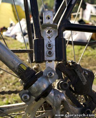 Велобагажник, регулируемый по высоте